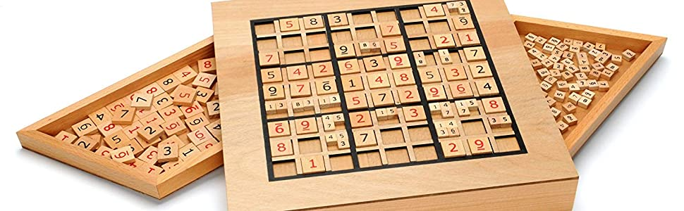 Amazon.com: Deluxe Wooden Sudoku Puzzle with Wooden Number ...