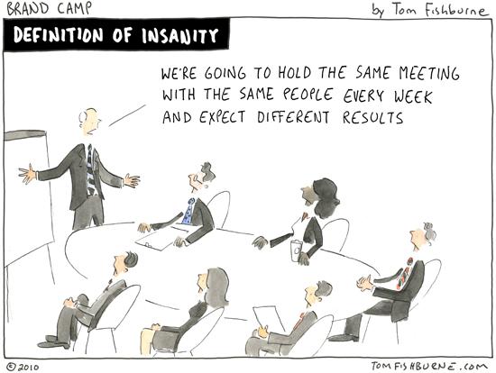 definition of insanity | Marketoonist | Tom Fishburne