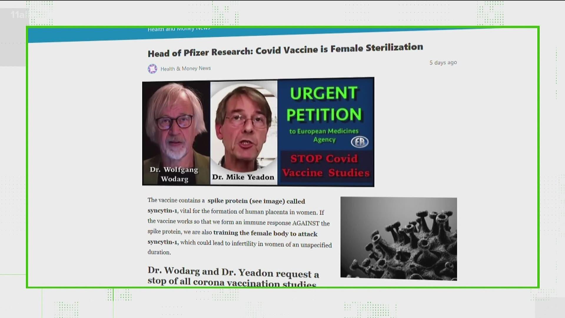 VERIFY: Will the COVID-19 vaccine cause infertility in ...