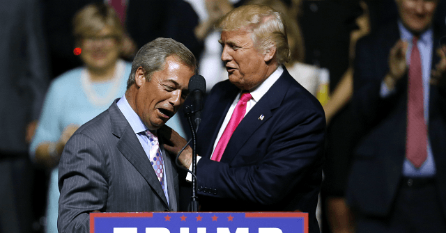 Brexit Leader Nigel Farage Meets With President Trump at White House: 'Great Things Ahead For Our Two Countries'…