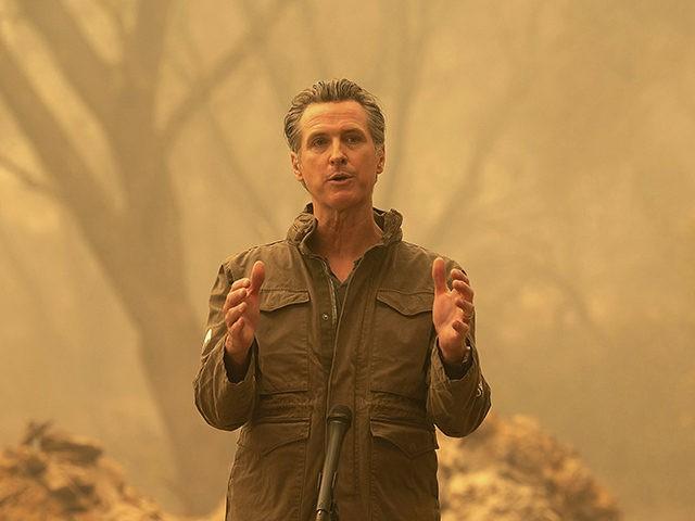 Gavin Newsom at Ash-Strewn Wildfire Site: Climate Change ...