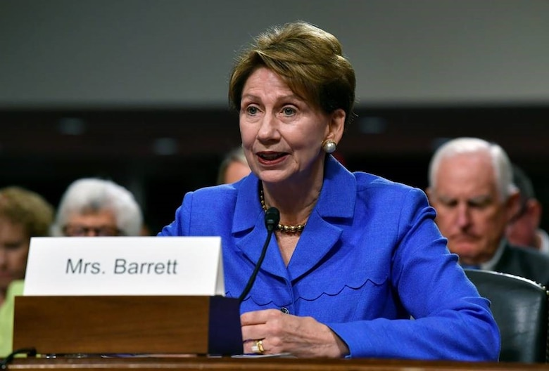 """""""Declassifying some of what is currently held in secure vaults would be a good idea,"""" said Air Force Secretary Barbara Barrett…"""