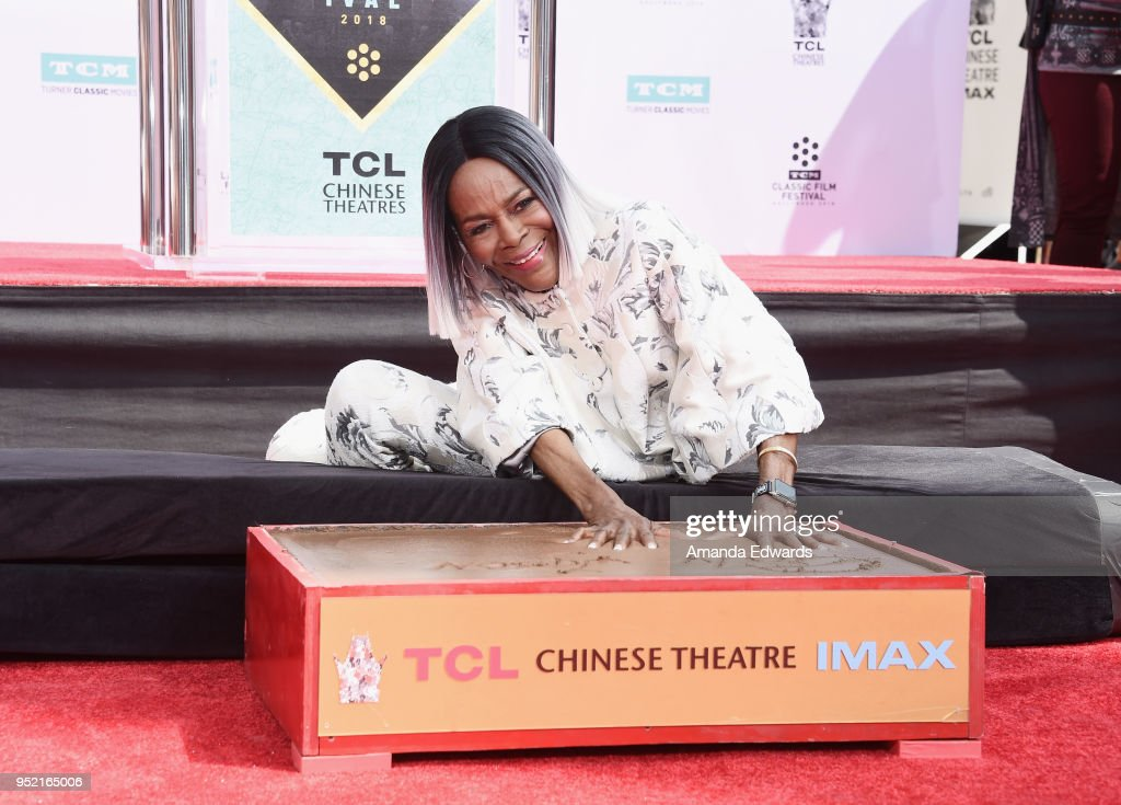 Actress Cicely Tyson is honored with a hand and footprint ...
