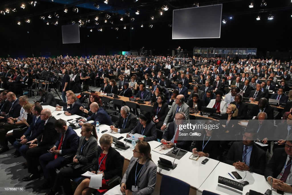 Delegates attend the opening ceremony of the COP 24 United ...