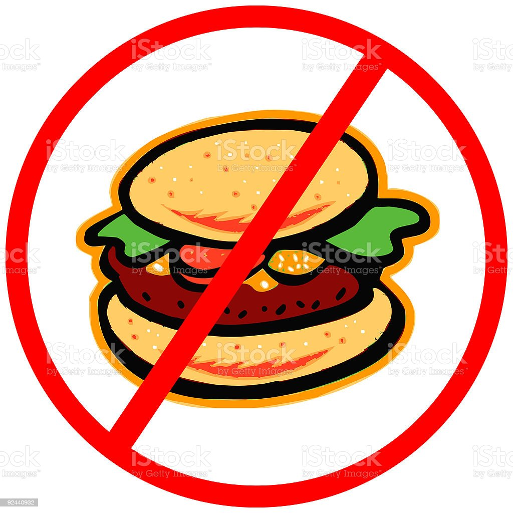 Anti Fast Food Hamburger Vector Stock Illustration ...