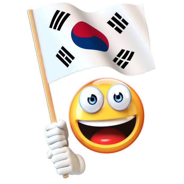 Royalty Free Cartoon Of A Korea Flag Clip Art, Vector ...