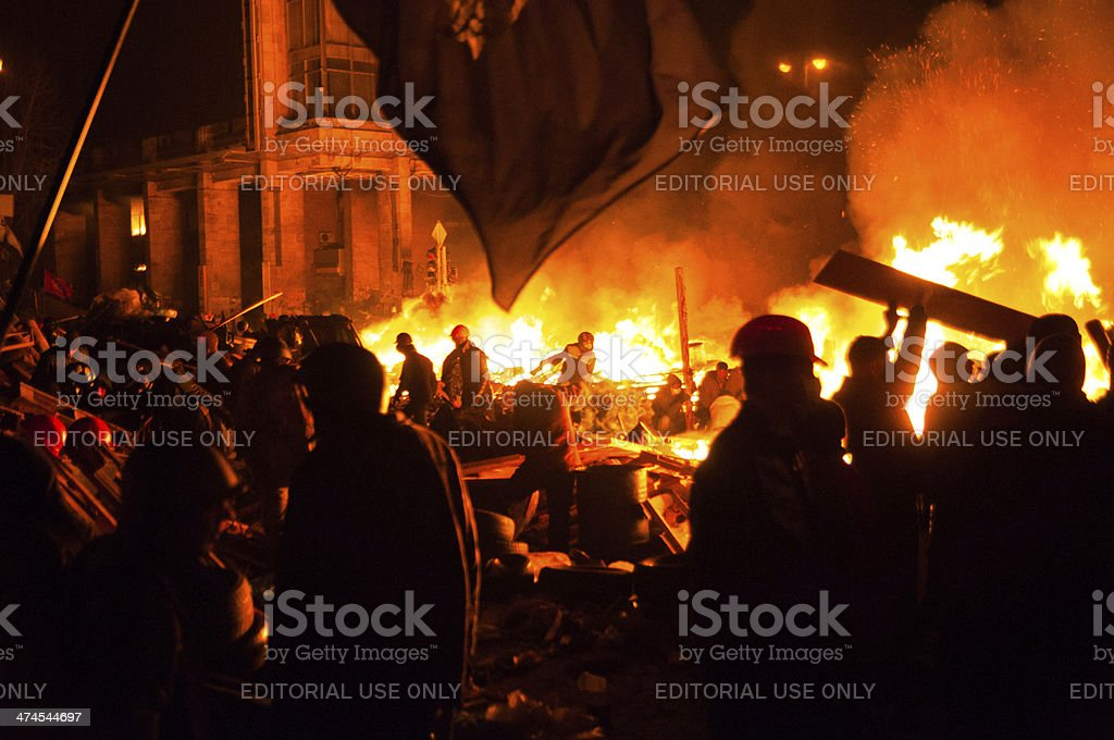 Antigovernment Riot In Kyiv Ukraine Stock Photo & More ...