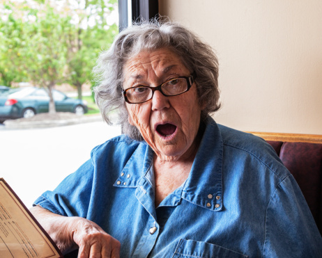 Astonished Elderly Dementia Grandma Stock Photo - Download ...