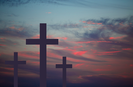 Easter Crucifixion Three Crosses On A Hill Good Friday ...