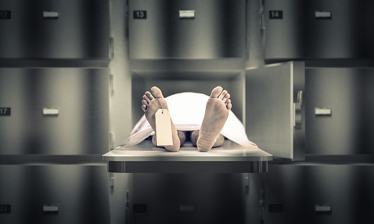 Man In The Morgue Stock Photo - Download Image Now - iStock
