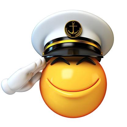 Foto de Fuzileiros Navais Chapéu Emoji Isolado No Fundo ...