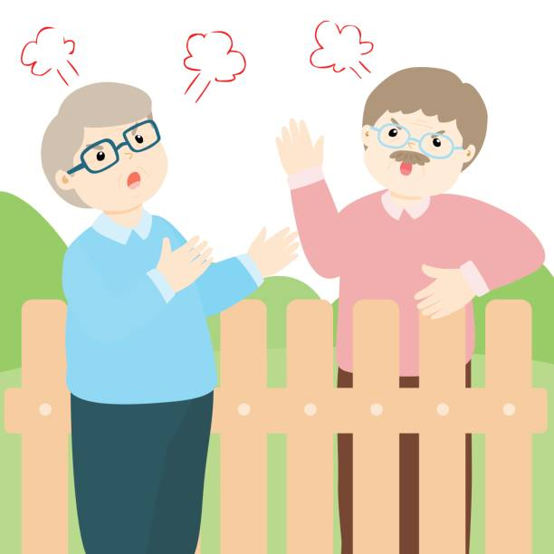Best Neighbors Talking Illustrations, Royalty-Free Vector ...