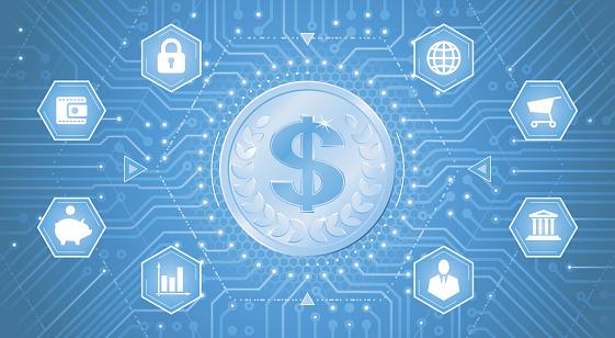 Digital Dollar Stock Illustration - Download Image Now ...