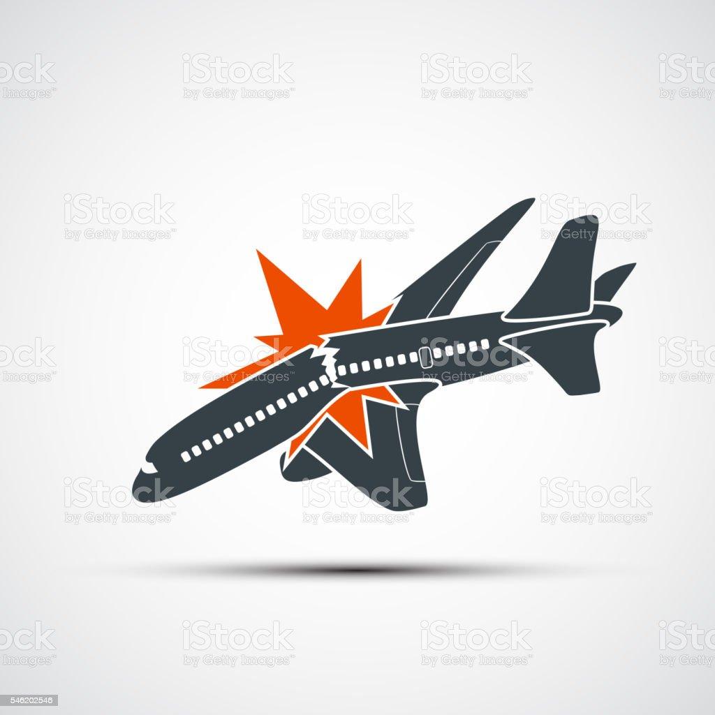 Icon Plane Crash Terrorist Act In The Air SOS에 대한 스톡 벡터 아트 ...