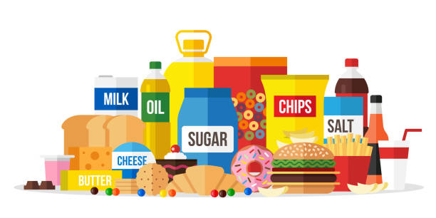 Best Processed Food Illustrations, Royalty-Free Vector ...