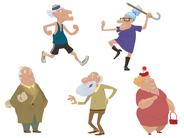 Best Funny Old Man Illustrations, Royalty-Free Vector ...