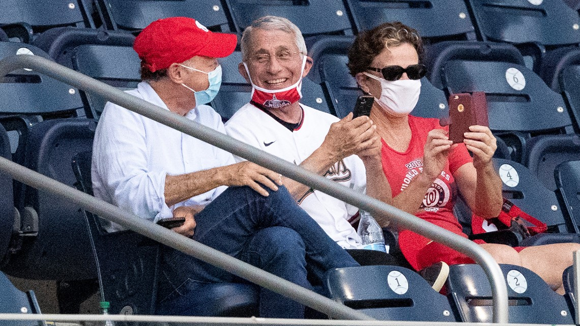 Photo of Fauci with face mask down draws jeers. He fires ...