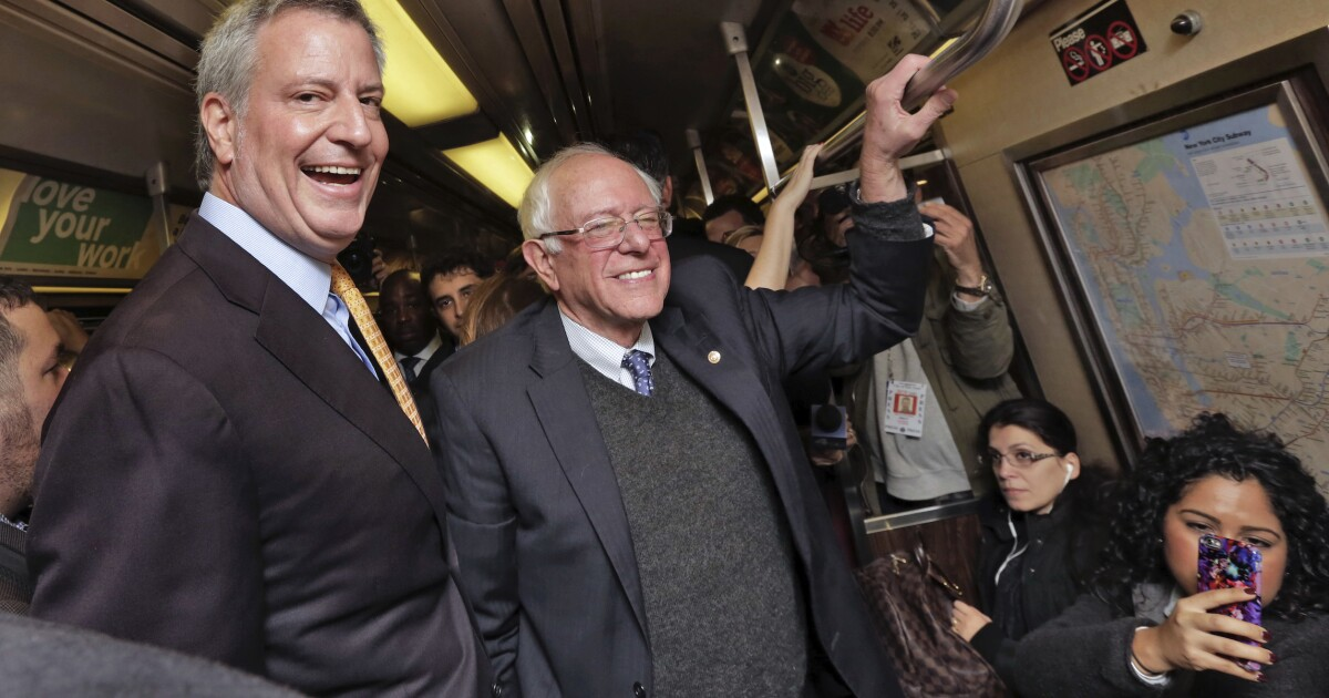 Bill de Blasio to endorse Bernie Sanders