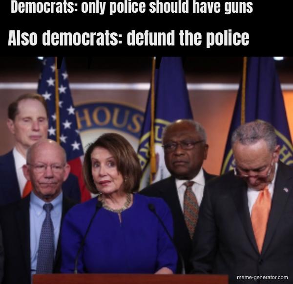 Democrats: only police should have guns Democrats: defund ...