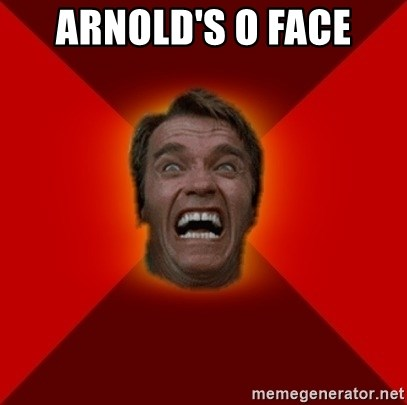 ARNOLD'S O FACE - Angry Arnold | Meme Generator