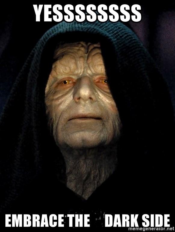 Yessssssss embrace the dark side - Star Wars Emperor ...