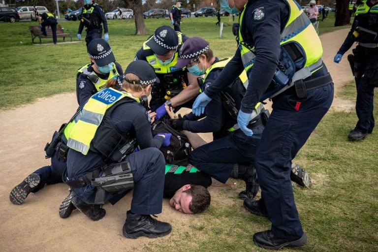 Anti-lockdown protest in Australia turns violent as 15 ...