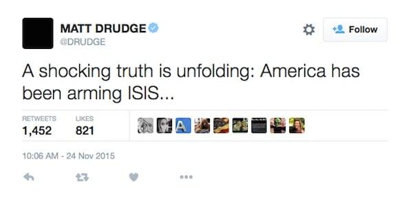 Matt Drudge: 'America has been arming ISIS' - WND