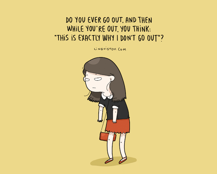 Funny Illustrations Perfectly Convey How Introverts Spend ...