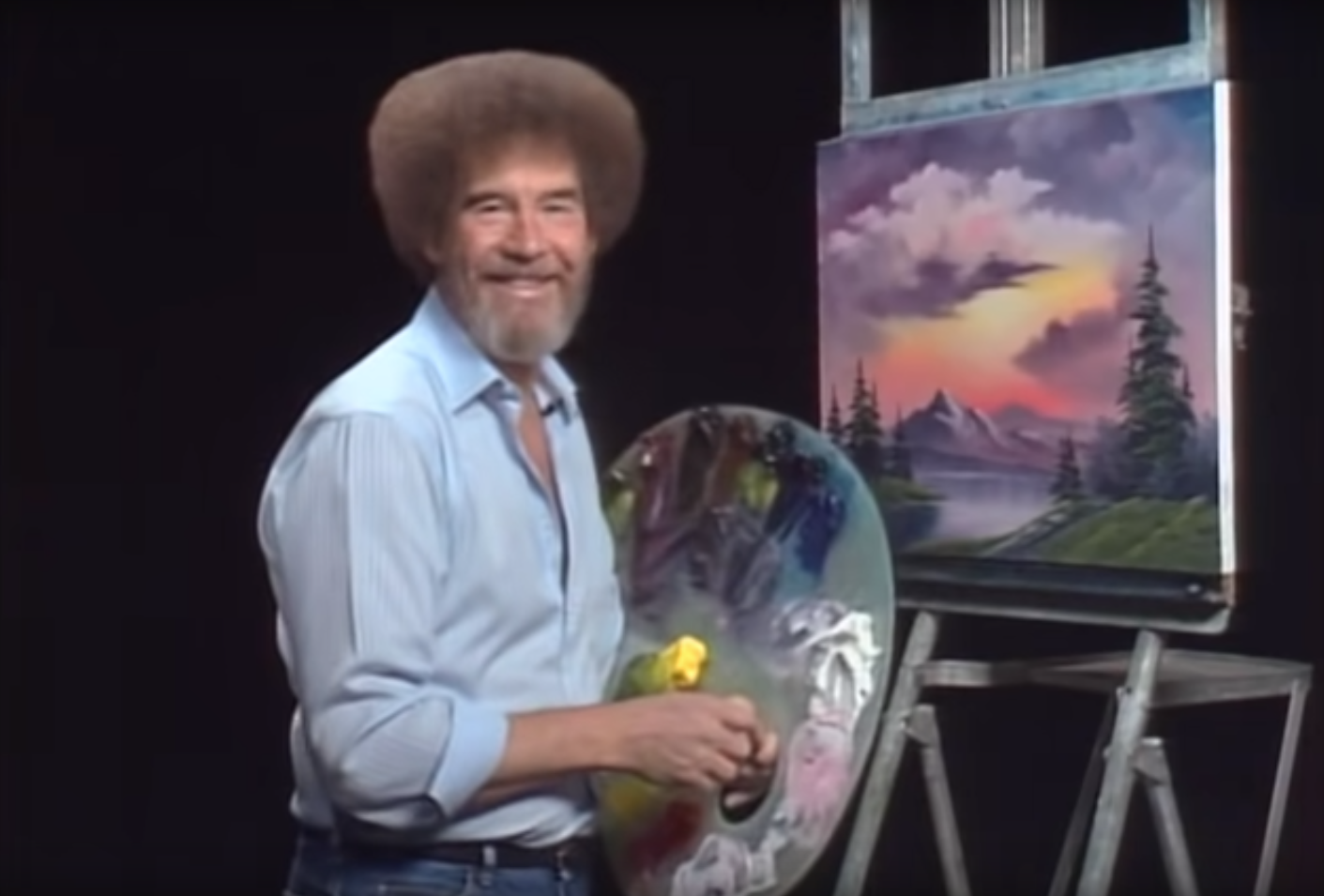 The Late PBS Painter Bob Ross Is Making His Museum Debut ...