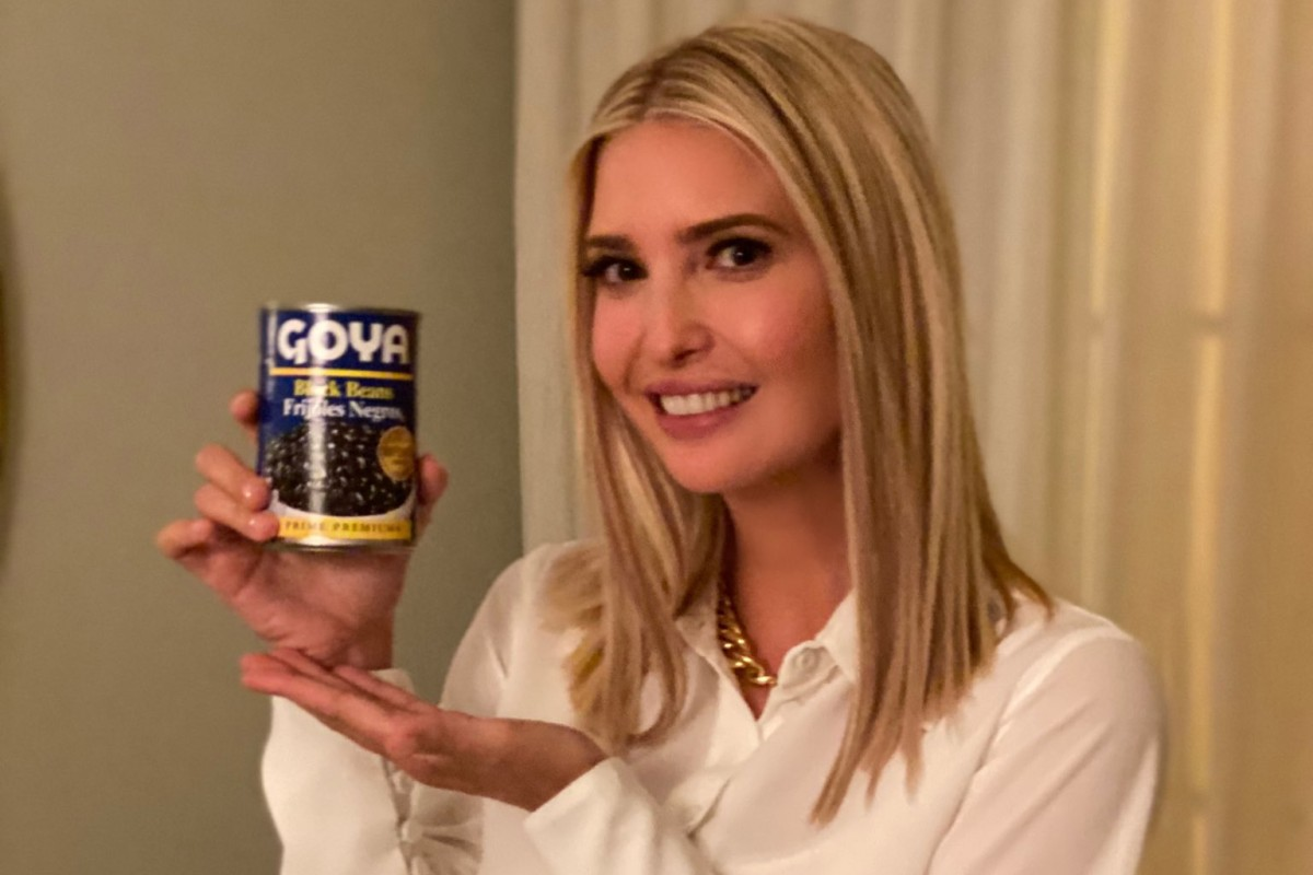 Ivanka Trump backs Goya on Twitter after liberals call for ...