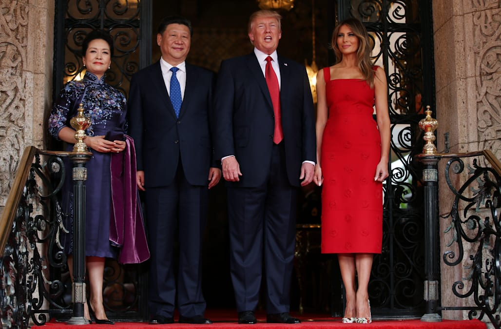 Melania Trump hosts China's first lady in a subtly altered ...