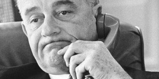 Lyndon Johnson on Telephone