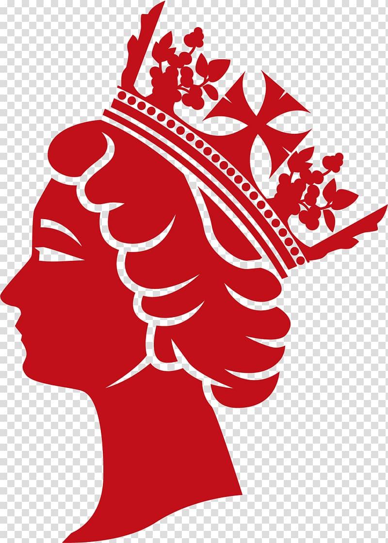 Queen Elizabeth of Wales silhouette logo, British Royal ...