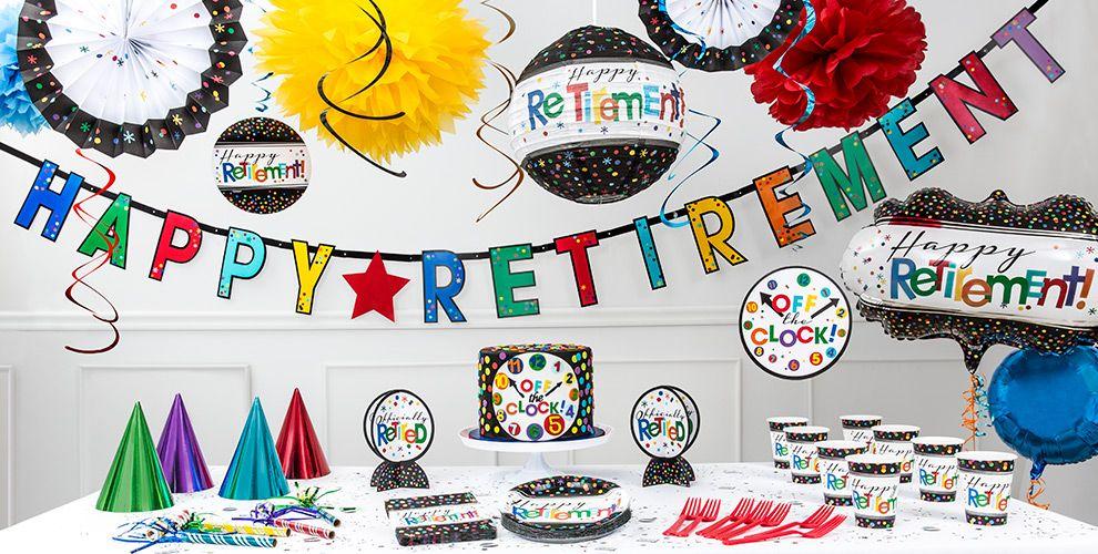 Happy Retirement Party Supplies - Retirement Party Ideas ...