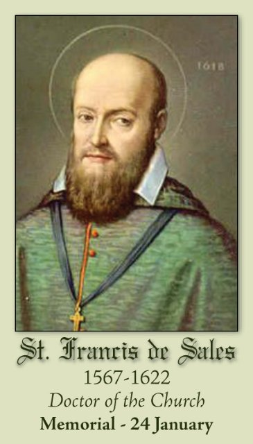 St. Francis de Sales | Defending the Beanfield