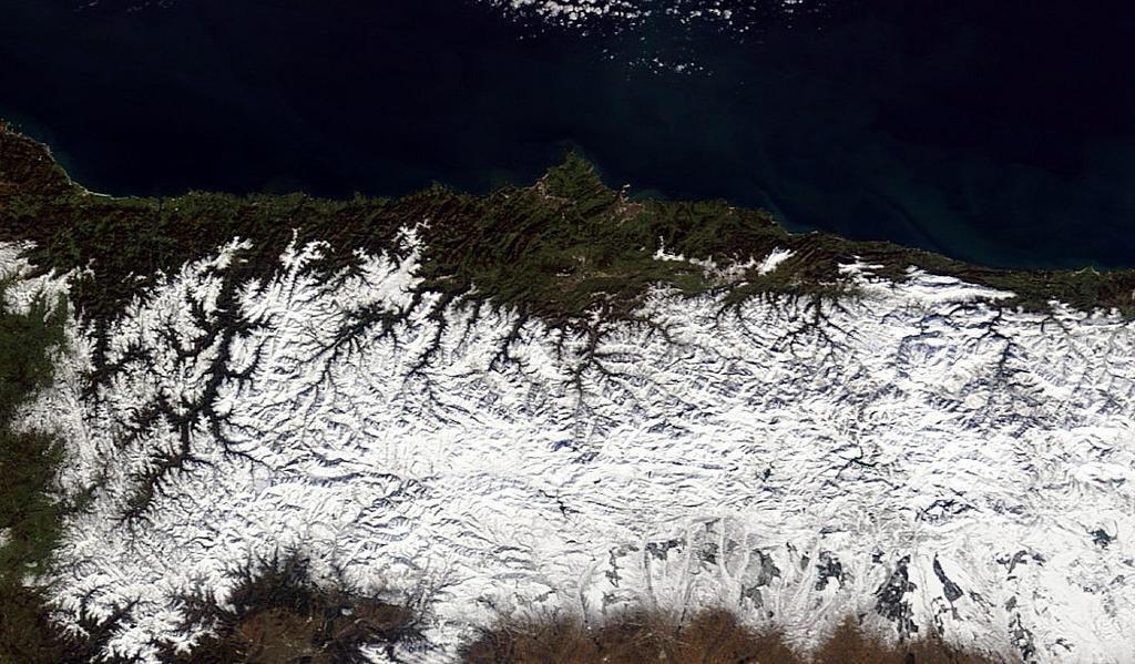 MASM: La nieve en Asturias por satélite