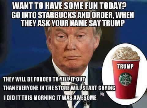 "Joe Biggs on Twitter: ""Yes we can #BoycottStarbucks but first lets Trigger them on the way out ..."