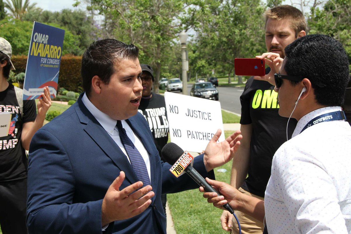 Maxine Waters challenger Omar Navarro reportedly arrested for restraining order violation…