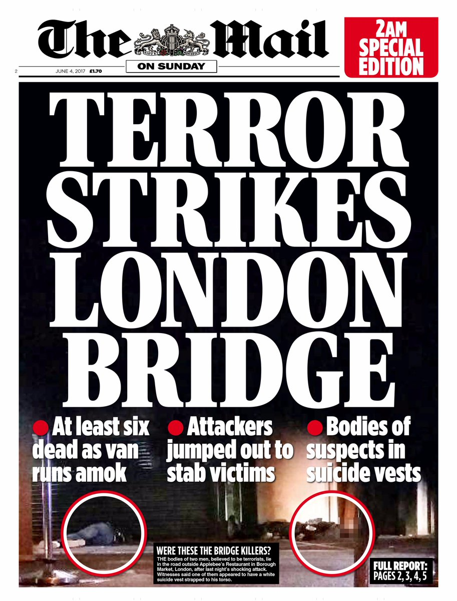 How the papers reported the London Bridge and Borough Market attacks ...