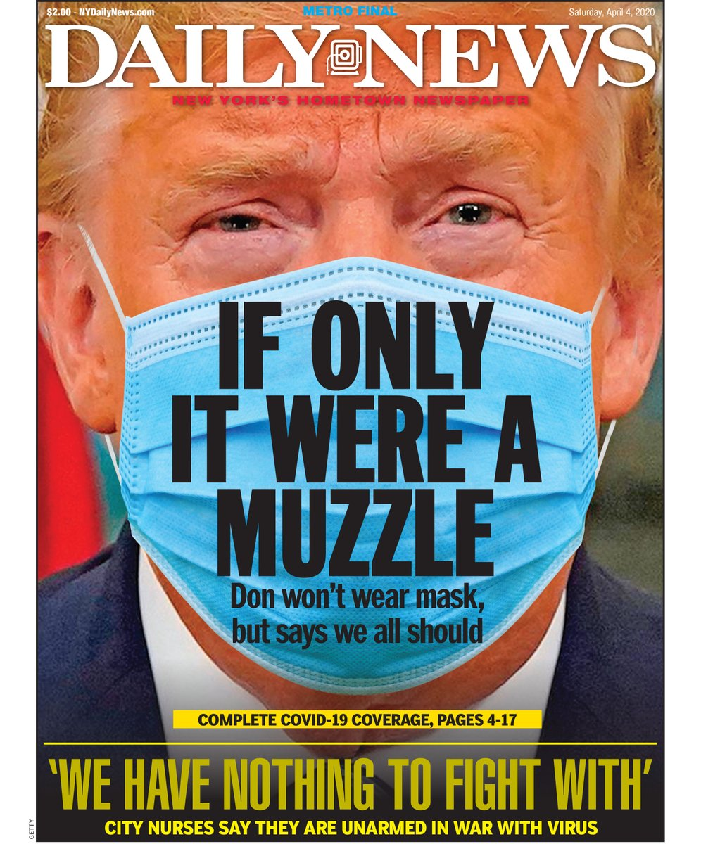 "Cover of NY Daily News ""If only it were a muzzle"" - Democratic Underground"