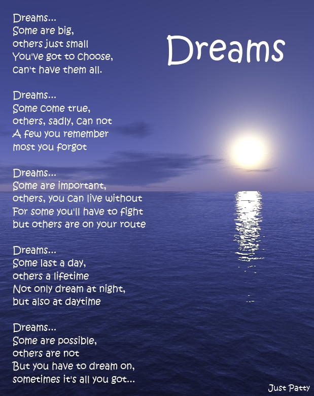 Poetry repost: Dreams