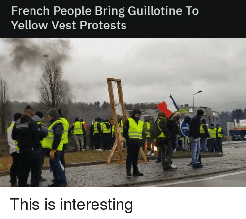 French People Bring Guillotine to Yellow Vest Protests ...