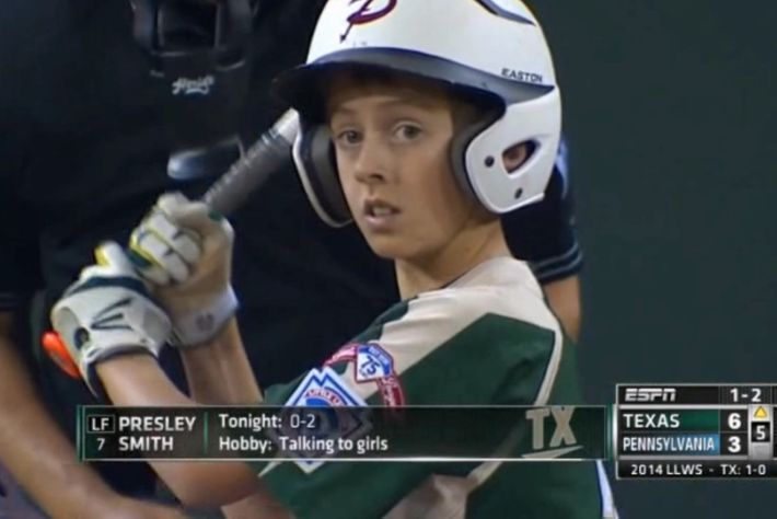 Little League Baseball Player Is Also a Player-Player