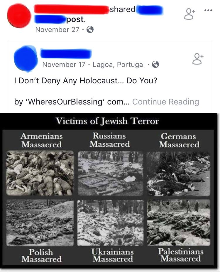 """This began with, """"Many ignorant, brainwashed people have contemptuously called me a 'Holocaust ..."""
