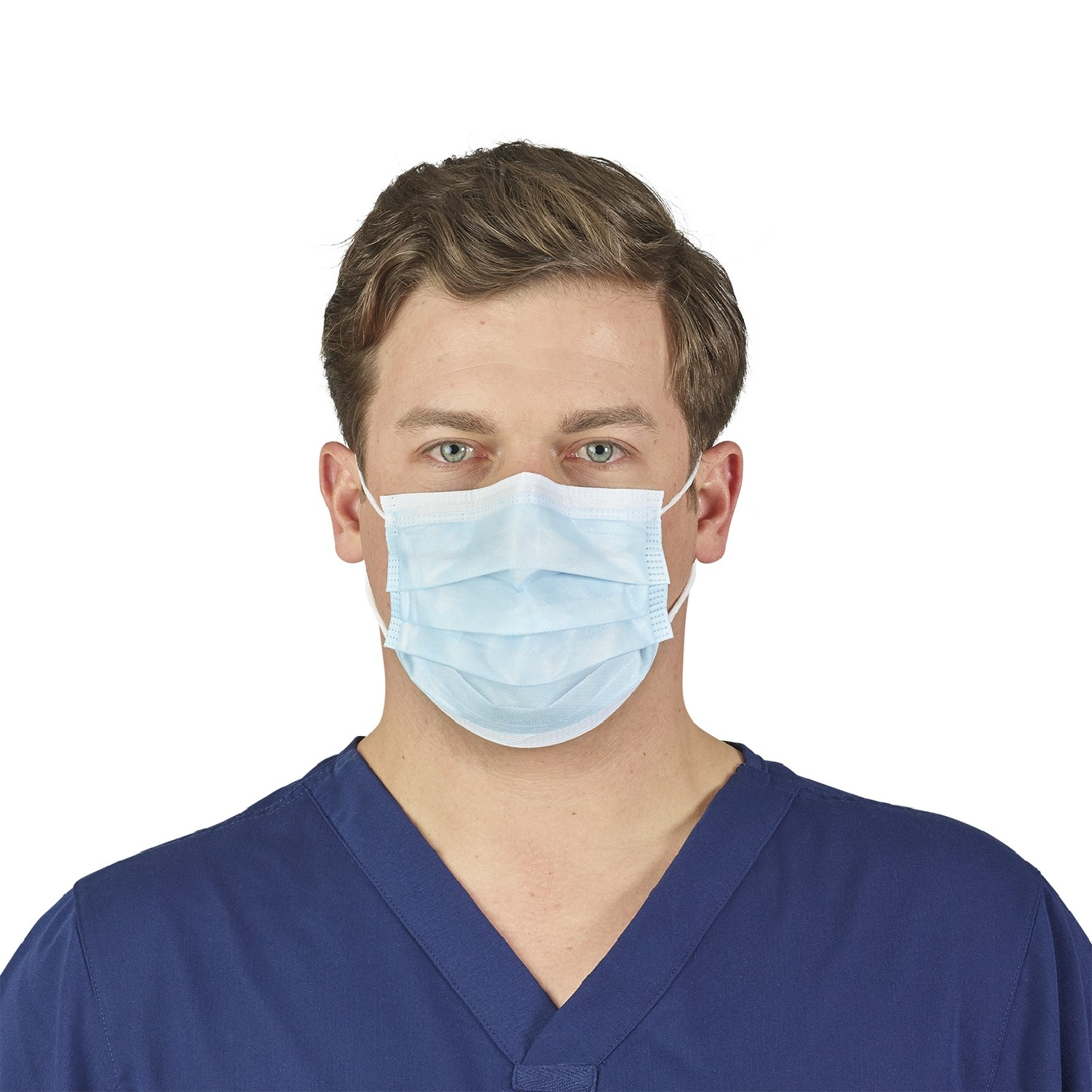 HALYARD* Blue Level 2 Procedure Mask with Earloops - Face Masks & N95 Respirators - Facial ...