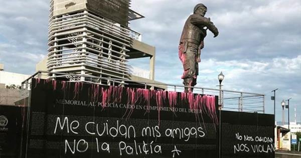 Vandalizan en Chihuahua monumentos previo a marcha # ...