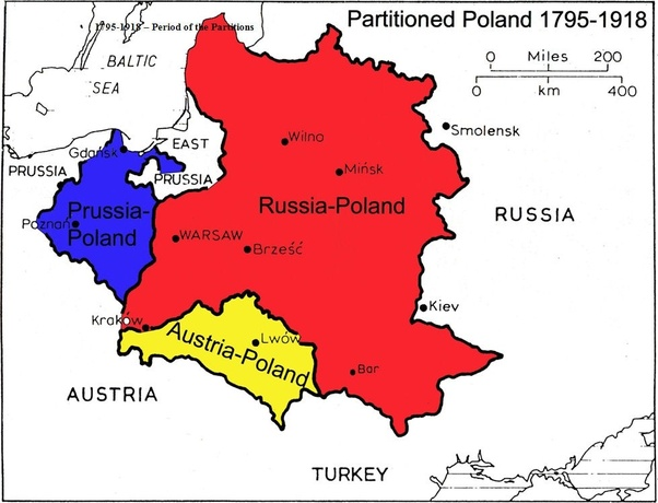 If Poland had stayed divided between Prussia and Austria ...