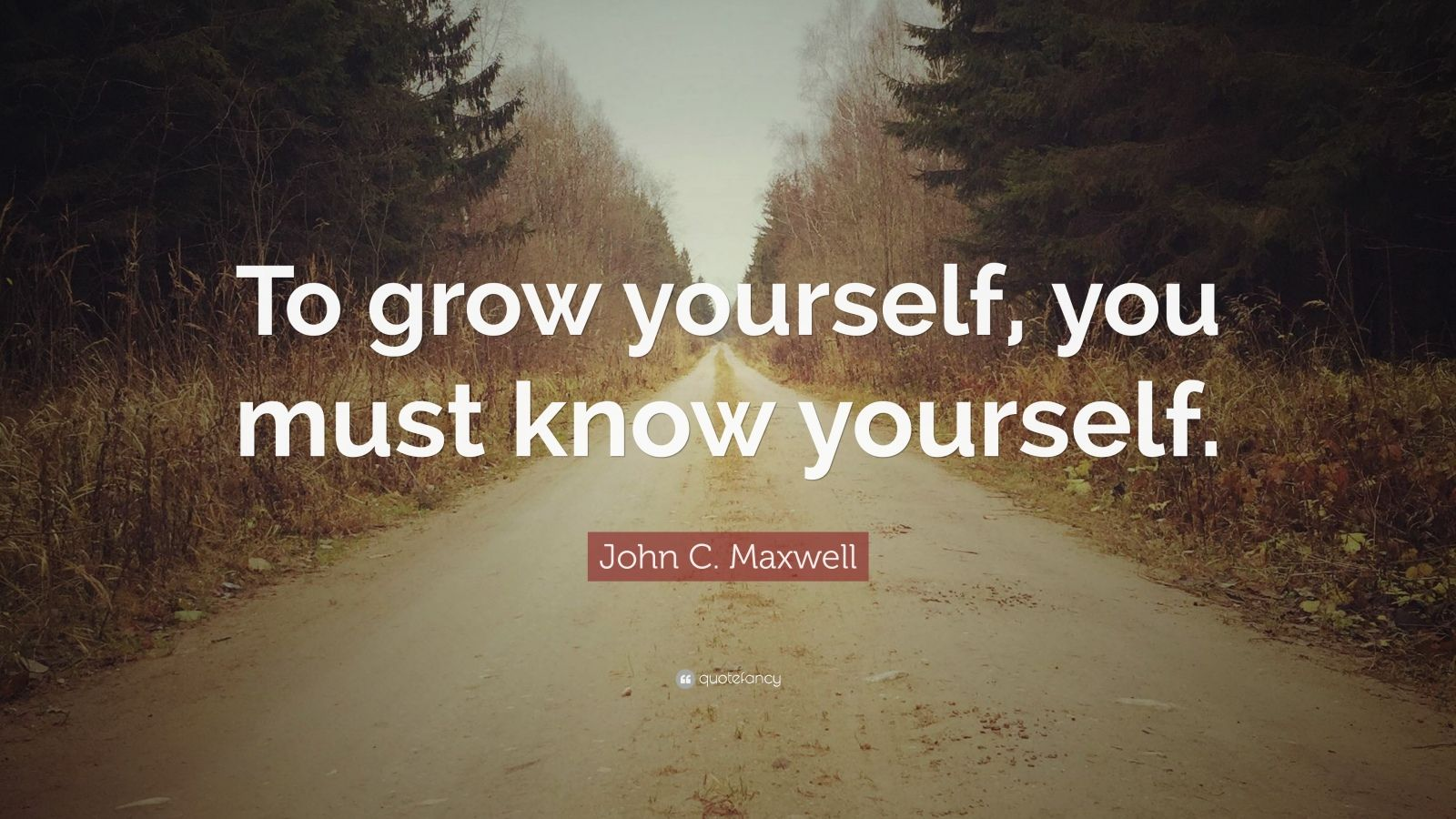 """John C. Maxwell Quote: """"To grow yourself, you must know yourself."""" (12 wallpapers) - Quotefancy"""