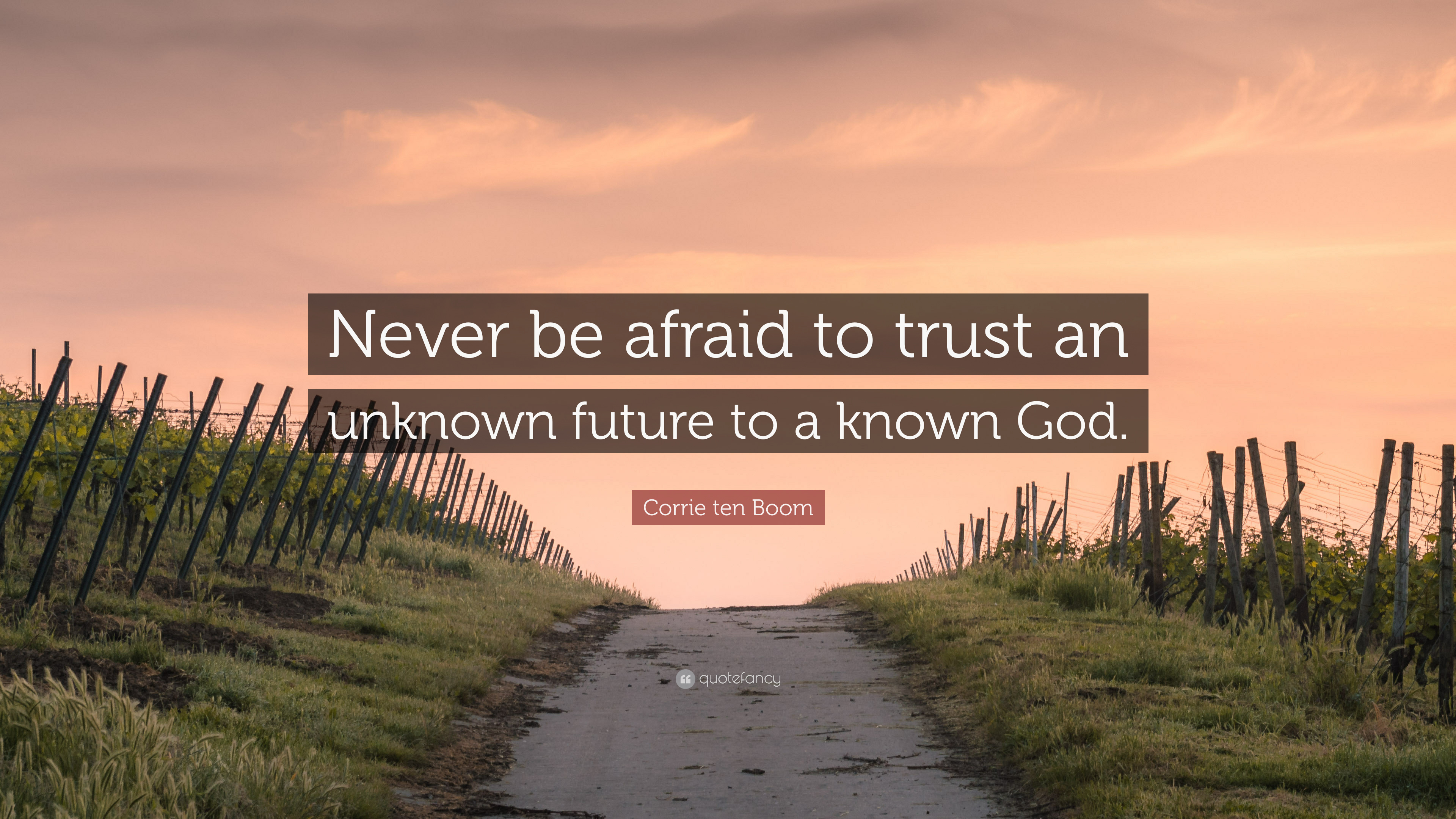 """Corrie ten Boom Quote: """"Never be afraid to trust an ..."""