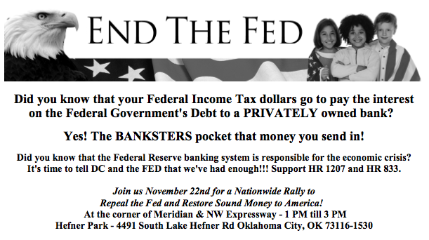 END the FED Rally planned for OKC – Nationwide Nov 22nd ...